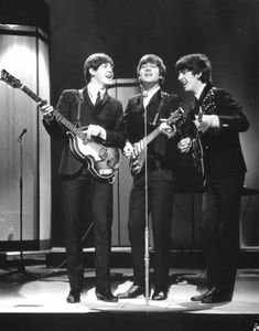 Paul, John, George - The #Beatles on stage at the London Palladium, 3rd October 1963