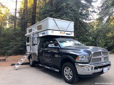 List of lightweight flatbed truck camper manufacturers Hiking Tips, Hiking Gear, Camping Tips, Slide In Camper, Popup Camper, Backpack Organization, Camping Organization, Tent Trailer Camping, Tent Trailers