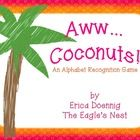 """Your students will go coco""""nuts"""" over this game!  Great for small group, RtI, review game or literacy center, students name the letters in an attem..."""