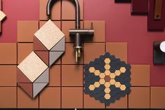 Earth coloured tiles by Olde English Tiles - close up of 100 x Killara speckled, Manhattan mosaics Earth Colours, Earth Tones, Color Tile, Colour Inspiration, Terracotta, Mosaics, Earthy, Manhattan, Tiles