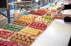 Mosey up to order and, as if you've won the dessert lottery, a candy-color rainbow of deliciousness awaits. At any given time, Ladurée offers between 14 and 18 flavors, adding a new one each month. Since the beginning it has dreamt up more than 130 flavors. Drooling yet?