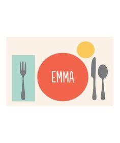 Love this Place Setting Personalized Place Mat by sarah + abraham on #zulily today. Asa has one and we need some for the whole family.