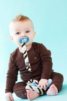Amazon.com: Z. Daisy Chandler Camo Binkie Bungee Pacifier Clip: Baby