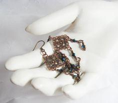 Florentine Filigree Earrings.  Italian Courtesan. by CamilleLaLune