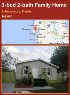 3-bed 2-bath Family Home in St Petersburg, Florida ►$48,000 #PropertyForSale #RealEstate #Florida http://florida-magic.com/properties/82631-family-home-for-sale-in-st-petersburg-florida-with-3-bedroom-2-bathroom
