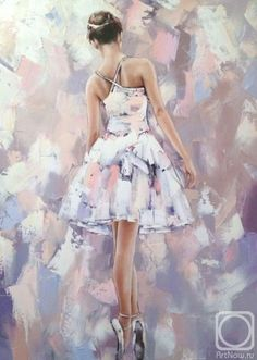 Art by Alexander Gunin Ballerina Kunst, Ballerina Painting, Ballet Wallpaper, Ballet Drawings, Dance Paintings, Pretty Ballerinas, Ballet Art, Dance Pictures, Russian Art