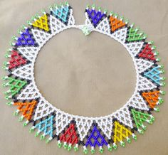 African Ndebele Royal Coloured Beaded Necklace by PoshImpressions, $25.00