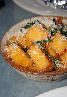 polenta chips with rosemary & parmesan at Jamie's Italian
