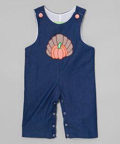 Another great find on #zulily! Denim Turkey Romper - Infant & Toddler #zulilyfinds