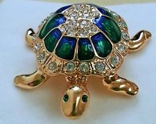 Attwood & Sawyer Vintage Tortoise Brooch/Pin