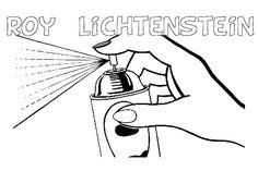 roy lichtenstein for kids art print to color