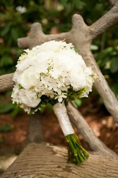 All White Rustic Country Wedding Bouquet