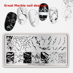 Wholesale Product Snapshot Product name is BORN PRETTY Rectangle Nail Stamping Plates Marble Texture Ink Nail Art Image Texture Theme Nail Art Designs, Marble Nail Designs, Marble Nail Art, Nails Design, Stamping Nail Polish, Nail Stamping Plates, Nail Art Supplies, Nail Art Tools, Solid Color Nails