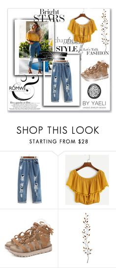 """""""Romwe 7/VI"""" by nermina-okanovic ❤ liked on Polyvore featuring Pier 1 Imports and romwe"""