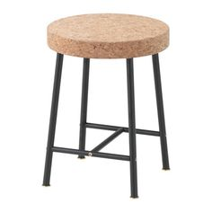SINNERLIG Stool IKEA Cork is a soft, dirt-repellent natural material that dampens sound and is resistant to water.