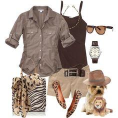 Animal prints, brown color scheme.