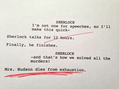 These Sherlock rough drafts are great