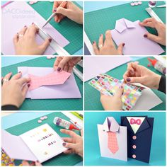 🤵How to surprise your dad with a wonderful DIY card🤵 Diy Craft Projects, Diy Cards, Dads, Create, How To Make, Inspiration, Beautiful, Fathers, Biblical Inspiration