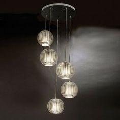 Trend Lighting 6-ft 8-in Phoenix Satin Silver Multi-Pendant Light lowes $690