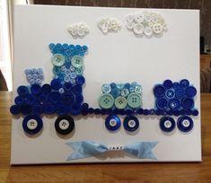 Button Art Canvas - Train