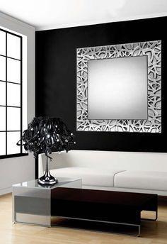 espejos de madera modelo algeciras plata