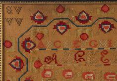 LAMISA F. JORDAN (WILLIAMSON CO., TENNESSEE, 1837-1907) NEEDLEWORK SAMPLER
