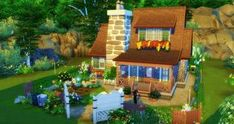 Organic Gardening Store Near Me Sims 4 House Plans, Sims 4 House Building, The Sims 4 Lots, Cute Minecraft Houses, Sims 4 House Design, Casas The Sims 4, House In Nature, Sims 4 Build, Sims 4 Game