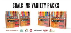 The Original Chalk Ink® Wet-Wipe Markers