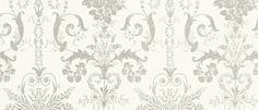 Josette Dove Grey/White Wallpaper at Laura Ashley