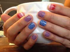 """Patriot"" Jamberry Nails"