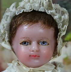 "Appealing 19"" Early Poured Wax Child from victorianretreat on Ruby Lane"