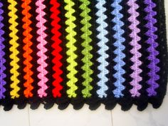 la manta de rayas arco iris abuelita por handmadebyria en Etsy