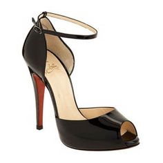 4c18442a7c5a Christian Louboutin Claudia Ankle Strap Sandals in black patent