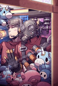 Pyro wants a plushie (by magical-sanatorium) Tf2 Pyro, Tf2 Scout, Tf2 Funny, Team Fortress 2 Medic, Tf2 Memes, Culture Art, Red Vs Blue, Video Game Characters, Game Art