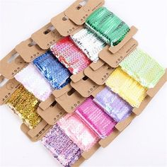 Good Price of 5Yards/Roll Color Sequined Rope Tag Cords Wedding Birthday Party Decorations Supplies Gift Wrapping Clothing DIY Craft MaterialsIf You search information for wedding shoes, then 5Yards/Roll Color Sequined Rope Tag Cords Wedding Birthday Party Decorations Supplies Gift Wrapping Clothing DIY Craft Materials is possible make you loveBuy 5Yards/Roll Color Sequined Rope Tag Cords Wedding Birthday Party Decorations Supplies Gift Wrapping Clothing DIY Craft Materials Right Here and… Diy Ribbon, Ribbon Crafts, Festival Decorations, Birthday Party Decorations, Diy Crafts Materials, Craft Wedding, Diy Clothes, Craft Supplies, Gift Wrapping
