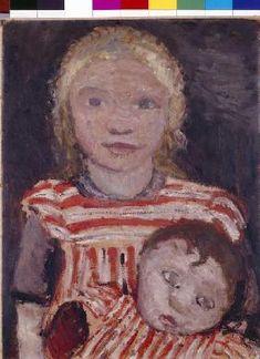 Paula Modersohn-Becker - Mädchen mit Puppe