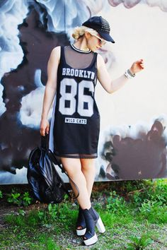 Discover this look wearing Black Numbers Mesh Primark Dresses, Black Studded Cap Pimkie Hats - sporty by Esra styled for Sports, Everyday in the Summer Basketball Outfits, Sporty Outfits, Wearing Black, Cart, How To Wear, Shopping, Tops, Style, Macabre