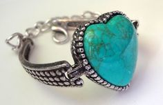 Turquoise and Antique Silver Bracelet