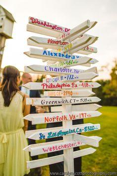 Custom Wedding Sign - NC Wedding Planner - Carolyn Scott Photography ©