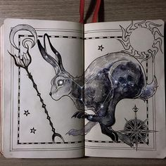 """Lepus, """"the hare"""" constellation - ⭐ Legend tells that Lepus once escaped the Capricorn arrow, the one that is said to never miss its target.⭐️ #CelestialAtlas"""