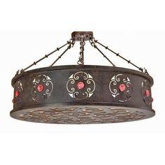 2nd Ave Design Julianne 6 Light Drum Pendant Finish: Antique Iron Gate
