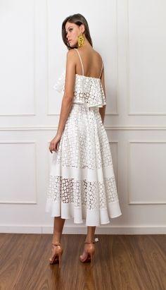 CONJUNTO RENDA BABADO - COJ3404-99 | Skazi, Moda feminina, roupa casual, vestidos, saias, mulher moderna