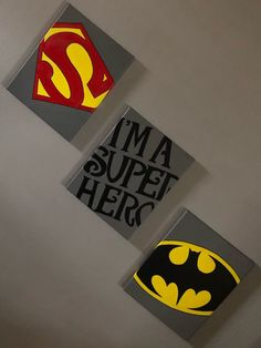 Excited to share this item from my shop: Superhero Canvas Paintings Three Canvas Painting, Small Canvas Paintings, Canvas Artwork, Diy Painting, Painted Canvas, Hand Painted, Disney Canvas Art, Kids Canvas Art, Superhero Canvas