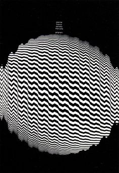 30 Glorieuses -ITALIE Franco Grignani was an Italian graphic designer. He joined Alliance Graphique Internationale in Art Optical, Optical Illusions, Op Art, Design Graphique, Motion Design, Poster Prints, Posters, Book Design, Cover Design