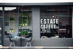 "Estate Coffee Company -- ""in-house roasted coffees … or enjoy coffee cocktails and brunch on weekends"""