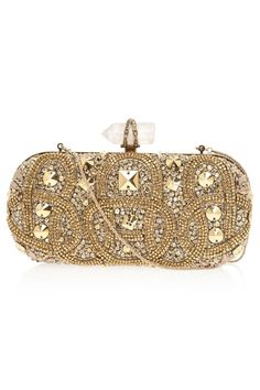 Lily Embroidered Clutch Bag
