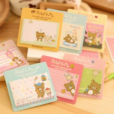 D38 2X Kawaii Cute Stationery Rilakkuma Paper Memo Pads Notebook papelaria Planner Stickers filofax papel notepad sticky notes-in Memo Pads from Office & School Supplies on Aliexpress.com | Alibaba Group