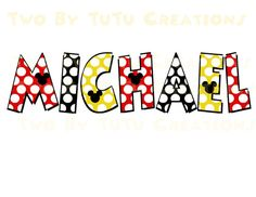 Disney Mickey Mouse Personalized Name DIY by TwoByTuTuCreations, $3.50