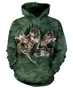 The Mountain Wolf Hoodie with Find 12 Wolves design by Steven Michael Gardner. This heavyweight 100% Cotton Hoodie will last you for years and features an over-sized relaxed fit, with reinforced doubl