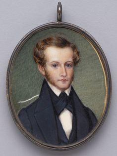 Miniature portrait of Meriwether Lewis Randolph, Jefferson's grandson